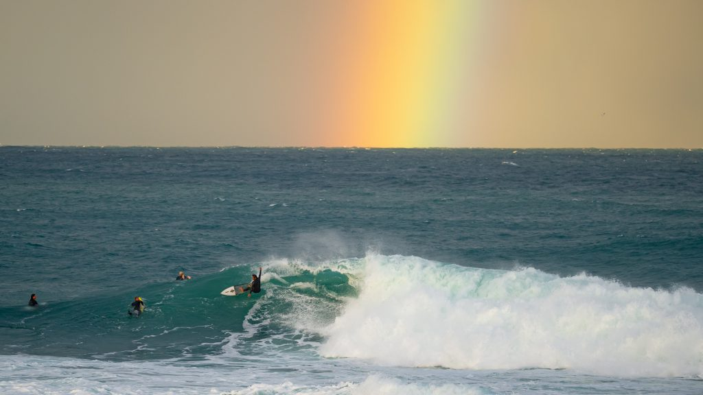 Surf with a rainbow